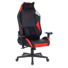 Кресло игровое Zombie HERO BATTLEZONE PRO черный/красный искусственная кожа с подголов. крестовина пластик