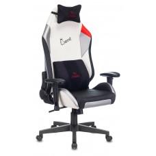 Кресло игровое Zombie HERO QUEEN PRO черный/белый искусственная кожа с подголов. крестовина пластик