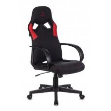 Кресло игровое Zombie RUNNER черный/красный искусст.кожа/ткань крестовина пластик