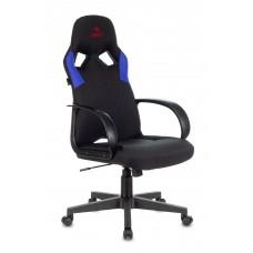 Кресло игровое Zombie RUNNER черный/синий искусст.кожа/ткань крестовина пластик