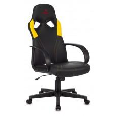 Кресло игровое Zombie RUNNER черный/желтый искусственная кожа крестовина пластик
