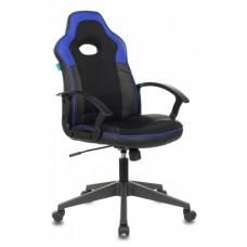Кресло игровое Zombie VIKING-11 черный/синий искусст.кожа/ткань крестовина пластик