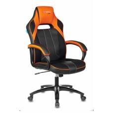 Кресло игровое Zombie VIKING 2 AERO черный/оранжевый искусст.кожа/ткань крестовина пластик