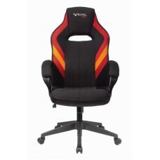 Кресло игровое Zombie VIKING 3 AERO черный/красный искусст.кожа/ткань крестовина пластик