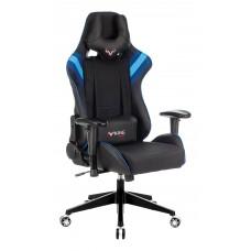 Кресло игровое Zombie VIKING 4 AERO черный/синий искусст.кожа/ткань с подголов. крестовина пластик