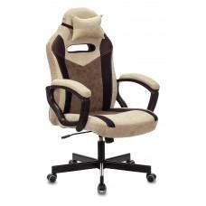 Кресло игровое Zombie VIKING 6 KNIGHT Fabric бежевый с подголов. крестовина металл
