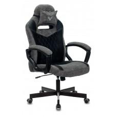 Кресло игровое Zombie VIKING 6 KNIGHT Fabric серый/черный с подголов. крестовина металл