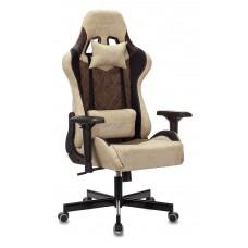Кресло игровое Zombie VIKING 7 KNIGHT Fabric бежевый текстиль/эко.кожа с подголов. крестовина металл