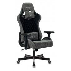 Кресло игровое Zombie VIKING 7 KNIGHT Fabric черный текстиль/эко.кожа с подголов. крестовина металл