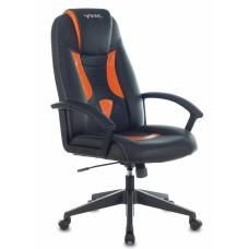 Кресло игровое Zombie VIKING-8 черный/оранжевый искусственная кожа крестовина пластик