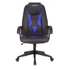 Кресло игровое Zombie Viking-8 черный/синий искусственная кожа крестовина пластик