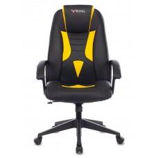 Кресло игровое Zombie VIKING-8 черный/желтый искусственная кожа крестовина пластик