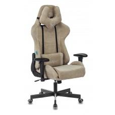Кресло игровое Zombie VIKING KNIGHT Fabric песочный Light-21 с подголов. крестовина металл