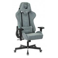 Кресло игровое Zombie VIKING KNIGHT Fabric серо-голубой Light-28 с подголов. крестовина металл