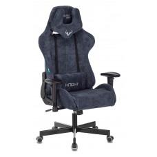 Кресло игровое Zombie VIKING KNIGHT Fabric синий Light-27 с подголов. крестовина металл