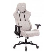 Кресло игровое Zombie VIKING LOFT серый Loft ромбик с подголов. крестовина металл