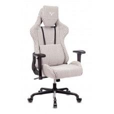 Кресло игровое Zombie VIKING LOFT серый Morris-1 гусин.лапка с подголов. крестовина металл