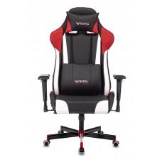 Кресло игровое Zombie VIKING TANK черный/красный/белый искусственная кожа с подголов. крестовина металл