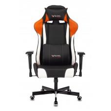 Кресло игровое Zombie VIKING TANK черный/оранжевый/белый искусственная кожа с подголов. крестовина металл