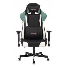Кресло игровое Zombie VIKING TANK черный/серый/белый искусственная кожа с подголов. крестовина металл