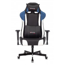 Кресло игровое Zombie VIKING TANK черный/синий/белый искусственная кожа с подголов. крестовина металл