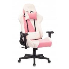 Кресло игровое Zombie VIKING X Fabric белый/розовый с подголов. крестовина пластик