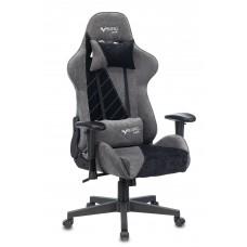Кресло игровое Zombie VIKING X Fabric серый/черный с подголов. крестовина пластик