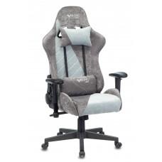 Кресло игровое Zombie VIKING X Fabric серо-голубой с подголов. крестовина пластик