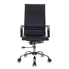 Кресло руководителя Бюрократ CH-883 черный искусственная кожа крестовина металл хром