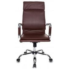 Кресло руководителя Бюрократ Ch-993 коричневый искусственная кожа крестовина металл хром