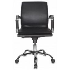 Кресло руководителя Бюрократ Ch-993-Low черный искусственная кожа низк.спин. крестовина металл хром