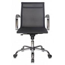 Кресло руководителя Бюрократ CH-993-Low черный M01 сетка низк.спин. крестовина металл хром
