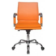 Кресло руководителя Бюрократ CH-993-Low оранжевый искусственная кожа низк.спин. крестовина металл хром