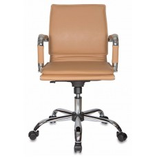 Кресло руководителя Бюрократ Ch-993-Low светло-коричневый искусственная кожа низк.спин. крестовина металл хром
