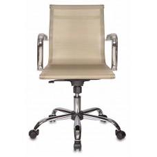 Кресло руководителя Бюрократ CH-993-Low золотистый сетка низк.спин. крестовина металл хром