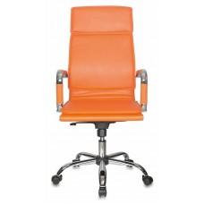 Кресло руководителя Бюрократ CH-993 оранжевый искусственная кожа крестовина металл хром
