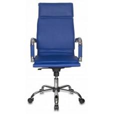 Кресло руководителя Бюрократ CH-993 синий искусственная кожа крестовина металл хром