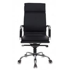 Кресло руководителя Бюрократ CH-993MB черный искусственная кожа крестовина металл хром