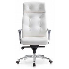 Кресло руководителя Бюрократ _DAO белый кожа крестовина алюминий