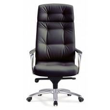 Кресло руководителя Бюрократ _DAO черный кожа крестовина алюминий