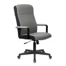 Кресло руководителя Бюрократ DOMINUS серый 10-128 крестовина пластик