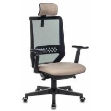 Кресло руководителя Бюрократ EXPERT черный TW-01 сиденье бежевый 38-402 сетка/ткань с подголов. крестовина пластик