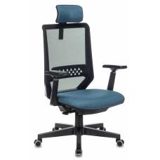 Кресло руководителя Бюрократ EXPERT черный TW-01 сиденье синий 38-415 сетка/ткань с подголов. крестовина пластик