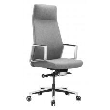 Кресло руководителя Бюрократ _JONS серый крестовина алюминий