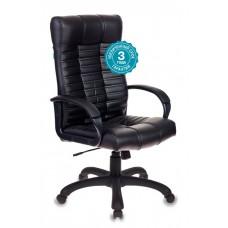 Кресло руководителя Бюрократ KB-10 черный искусственная кожа крестовина пластик