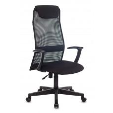 Кресло руководителя Бюрократ KB-8 черный TW-01 TW-11 сетка с подголов. крестовина пластик