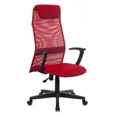 Кресло руководителя Бюрократ KB-8 красный TW-35N TW-97N сетка с подголов. крестовина пластик