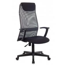 Кресло руководителя Бюрократ KB-8 темно-серый TW-04 TW-12 сетка с подголов. крестовина пластик