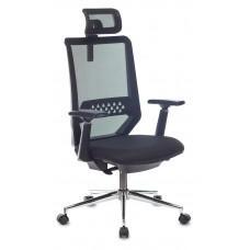 Кресло руководителя Бюрократ MC-612N-H черный TW-01 38-418 сетка/ткань с подголов. крестовина металл хром