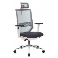 Кресло руководителя Бюрократ MC-W612N-H темно-серый TW-04 38-417 с подголов. крестовина металл хром пластик белый